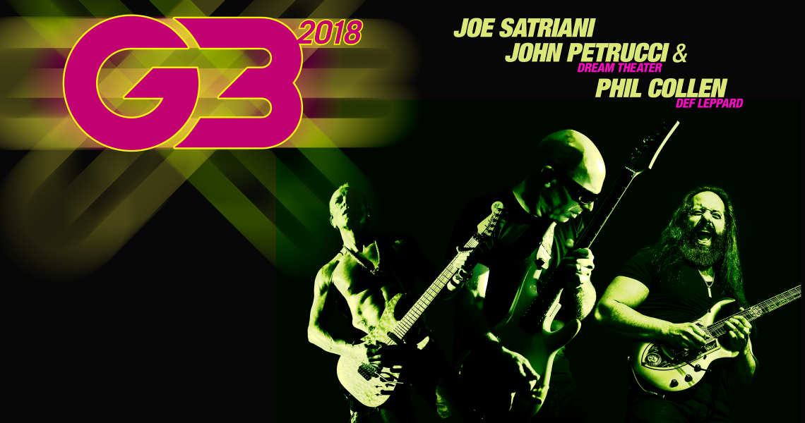 Joe Satriani Presents: G3 2018 Tour with John Petrucci and Phil Collen